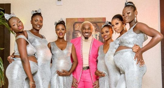 ნიგერიელი ქორწილში თავის 6 ფეხმძიმე საყვარელთან ერთად მივიდა