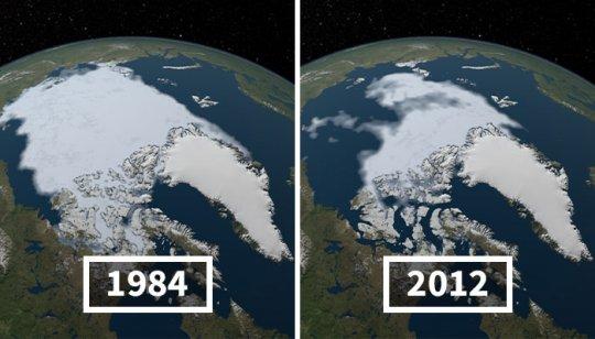 სურათები ნასადან, რომელიც აჩვენებს რამდენად რეალურია კლიმატის ცვლილება