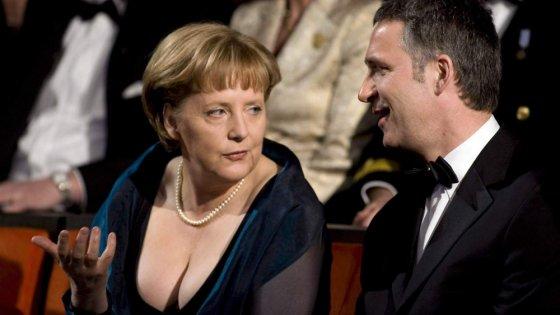 ანგელა მერკელი მეუღლესთან ერთად