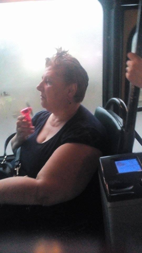 სიცხისგან გათანგული ყვითელ ავტობუსში