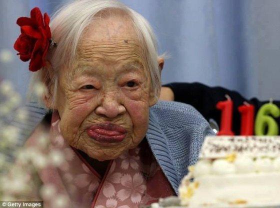 მილიარდიდან მხოლოდ 1 ადამიანი მიაღწევს 116 წელს.