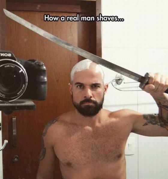 როგორ იპარსავენ თავს ნამდვილი მამაკაცები
