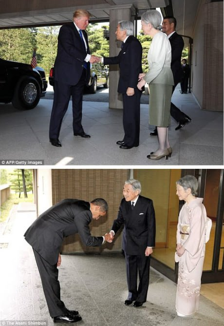 ბოდიში და სულ ფეხებზე ჰკიდია პრეზიდენტ ტრამპს ეტიკეტი, რასაც ეს ფოტოც ადასტურებს