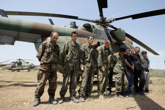 თითმოჭრილი ქართველი ჯარისკაცები (აგვისტოს ომი )