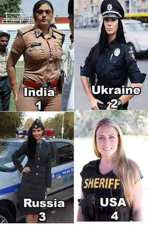 ქალი პოლიციელი სხვადასხვა ქვეყნებიდან