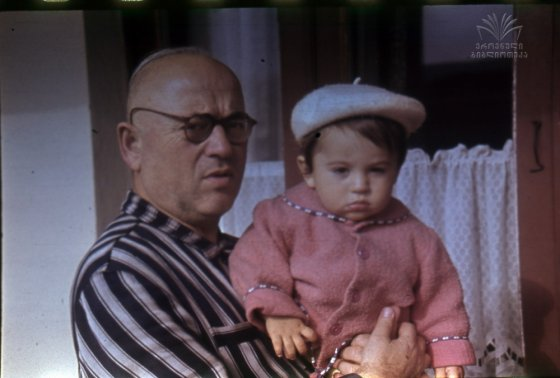 კანდიდ ჩარკვიანი,შვილიშვილთან,ირაკლი ჩარკვიანთან ერთად