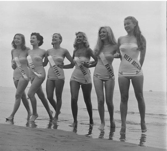 """პირველი """"მის უნივერსის"""" კონკურსში მონაწილე გოგონები(1952 წელი)"""