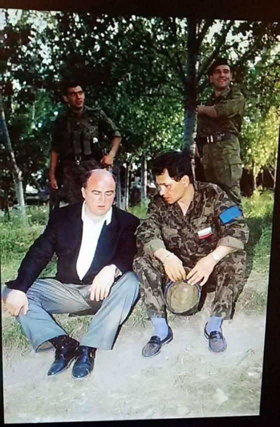კიტოვანი და ახალგაზრდა სერგეი შოიგუ დღევანდელი რუსეთის თავდაცვის მინისტრი