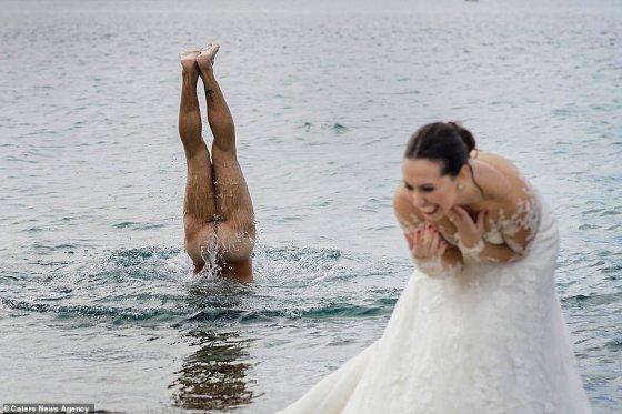 ქორწილის სასაცილო კადრი