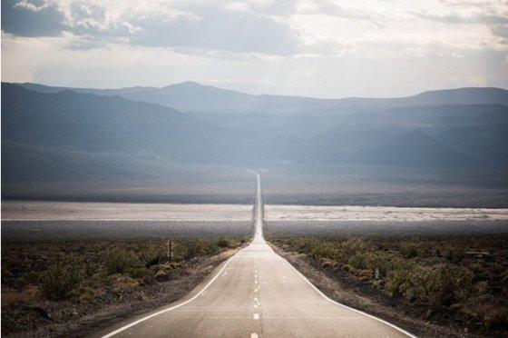 უსასრულობის გზა... - კალიფორნიაში მდებარე სიკვდილის ველის ეროვნული პარკის საუკეთესო ხედი