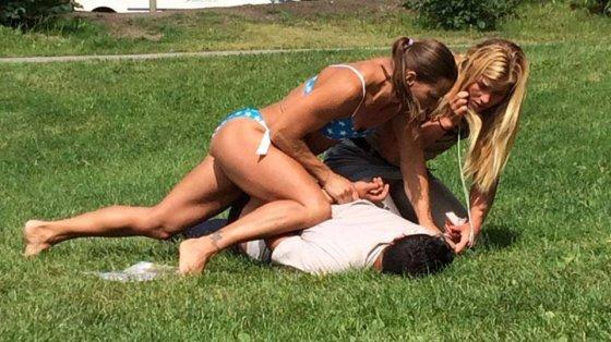 კაცმა გოგონებს პარკში ტელეფონები გასტაცა - გოგონები პოლიციელები აღმოჩდნენ...