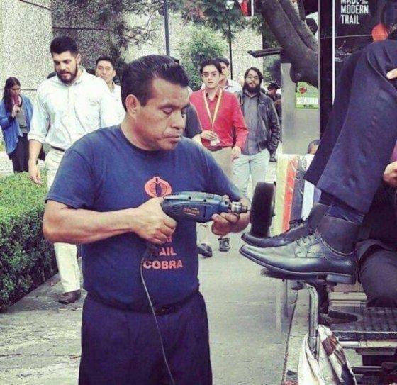ფეხსაცმლის გაწმენდის ახალი მეთოდი