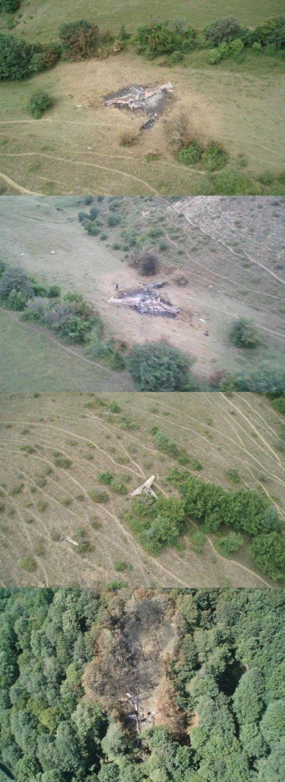 2008 წელს ქართველების მიერ ჩამოყრილი რუსული საფრენი აპარატების ფოტოკოლაჟი