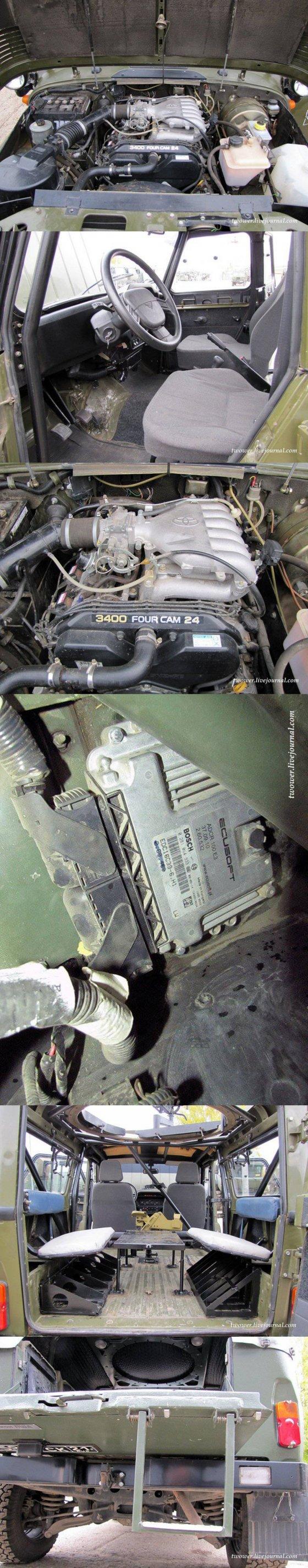 """რუსებმა  """"УАЗ""""-ი  აღჭურვეს """"ტოიოტას""""  მძლავრი, 6 ცილინდრიანი ძრავით, რესორი კი ზამბარებით შეცვალეს"""