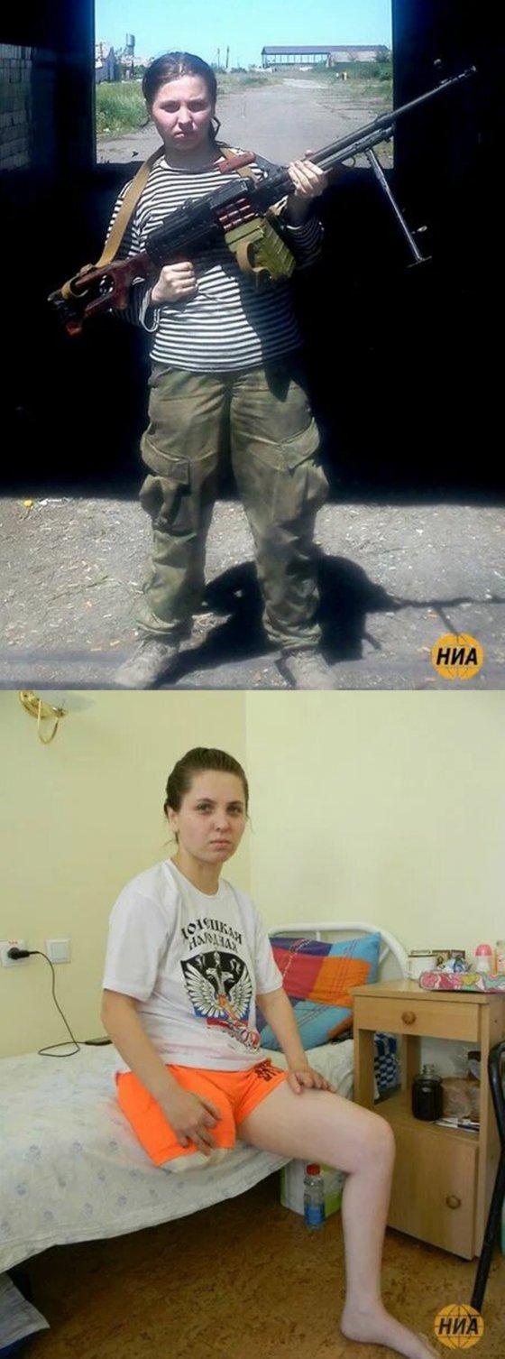 აი ასეთია სეპარატისტების ბოლო, რუსი სნაიპერი გოგო ცალი ფეხის გარეშე დარჩა