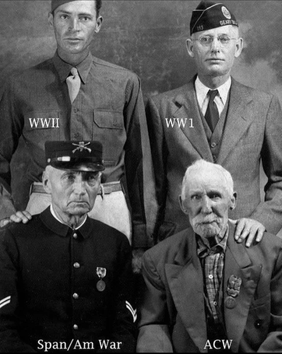 სხვადასხვა ომში მებრძოლი 4 ადამიანი ერთ ფოტოზე