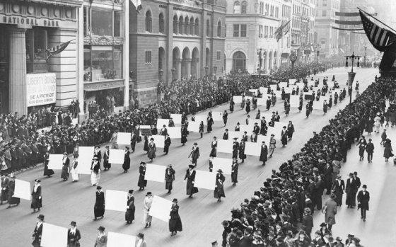 ქალთა პირველი ორგანიზებული გამოსვლა ვაშინგტონში