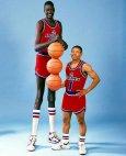 NBA-ს ყველაზე მაღალი და ყველაზე დაბალი კალათბურთელი