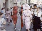 კრისტიან დიორის მოდელები მოსკოვის ქუჩებში, 1956 წელი