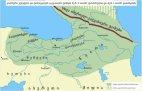 ქართველური ენების გავრცელება ძვ.წ. II ათასწლეულის ბოლოს.