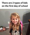 არსებობს 2 ტიპის ბავშვი სკოლის პირველ დღეს