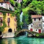 პატარა მაგრამ ძალიან ლამაზი ქალაქი ნესსო, იტალია