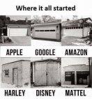 უდიდესმა კომპანიებმა ამ ფარდულებიდან დაიწყეს საქმიანობა