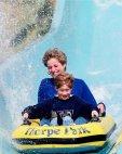 პრინცესა დაიანა და პრინცი ჰარი გასართობ პარკში; 1992 წელი.
