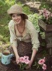 უკრაინელი გოგონა ბაღში