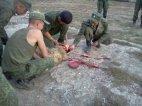 ასეთი ველურები მსახურობენ რუსულ ჯარში, დაკლული ცხვრის სისხლს აგროვებენ და მერე სვამენ