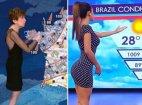 ფინელი და ბრაზილიელი ჟურნალისტები ამინდის გამოცხადებისას, იპოვეთ განსხვავება