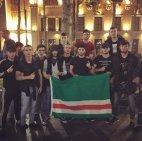 ქისტი ახალგაზრდები თბილისში გამართულ კონტრაქციაზე იჩქერიის დროშით