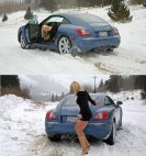 ქალი საჭესთან თუნდაც  ასეთი, მით უფრო ზამთარში კატასტროფაა ხშირ შემთხვევაში