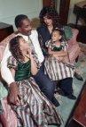 ბიონსე დასთან და მშობლებთან ერთად
