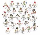 იპოვეთ ორი ერთნაირი თოვლის ბაბუა
