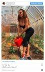 """ანა სედოკოვა ბაღში ქუსლიანი ფეხსაცმლით """"მუშაობს"""""""