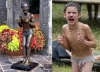 ეს არის ბესლანის ტრაგედიის ბავშვი და მისი ძეგლი- ყველა იქ  დაღუპული ბავშვის სიმბოლო