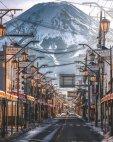 ქუჩა ფუძიამას ფონზე იაპონია