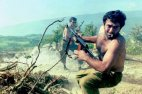 სომეხი ჯარისკაცი მთიანი ყარაბახის ომის დროს