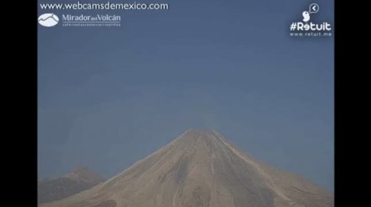 მექსიკაში ვულკანის ამოფრქვევის წინ ამოუცნობი მფრინავი ობიექტი გამოჩნდა