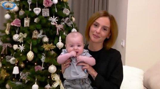 მარიკა თხელიძე შვილთან ერთად