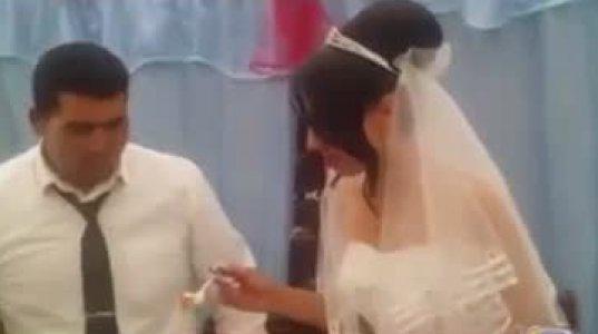 შოკი! ქორწილში სიძემ პატარძალს დაარტყა
