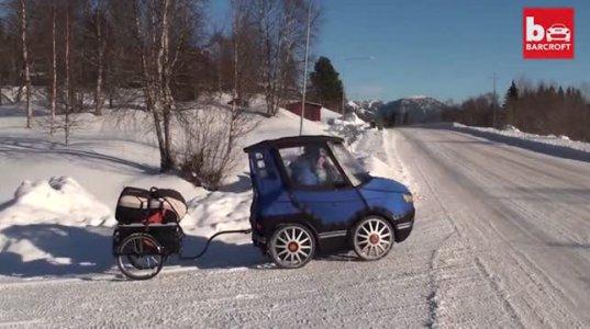 შვედმა ახალგაზრდა მამაკაცმა ოთხთვალა ველოსიპედი დაამზადა