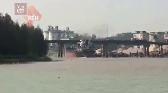 ჩინეთში 100 მეტრიანი სიგრძის გემი ხიდს შეეჯახა