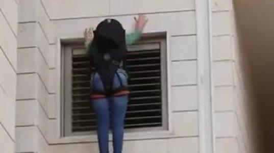ზურგჩანთა ფანჯრიდან გადმოსასვლელად