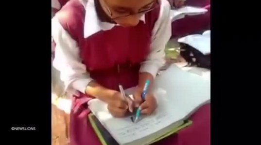 ეს წარმოუდგენელია - როგორ წერენ ინდოელი მოსწავლეები ორივე ხელით ერთდროულად