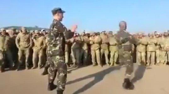 """ქართველი ჯარისკაცების მიერ შესრულებული ცეკვა """"მთიულური"""""""