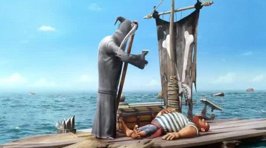 მიქელა თევზაობს