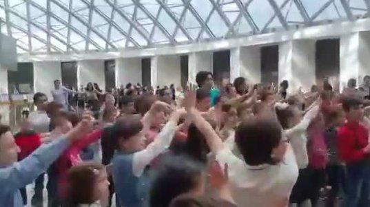 ეკა ბესელიას ცეკვა, ბავშვებთან ერთად, პარლამენტის შენობაში ინტერნეტ სი