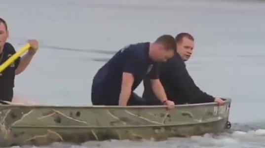 ძაღლი ყინულში ჩავარდა და იხრჩობოდა....წლის ყველაზე ემოციური ვიდეო
